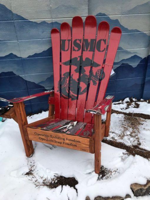 USMC Marines adirondack ski chair