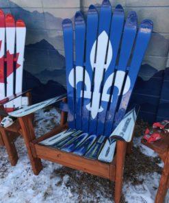 Quebec Flag Adirondack Ski Chair