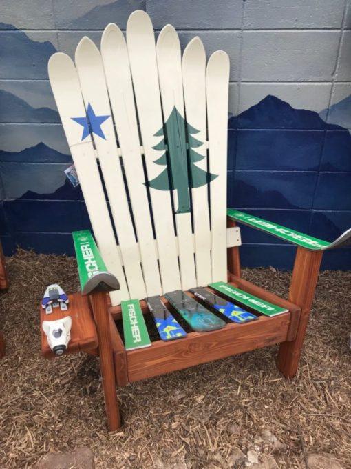 Flag of Maine Adirondack Ski Chair