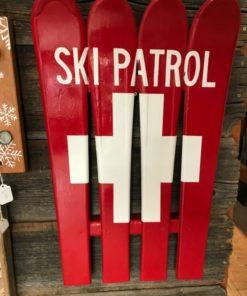 Ski Patrol/ Swiss Flag Hand Painted Ski Wall Art