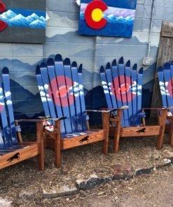 Denver Colorado Rocky Mountain Adirondack Ski Football Chair