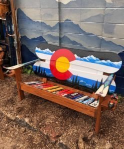 Colorado Flag Adirondack Snowboard Bench