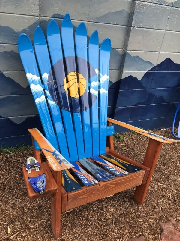 Denver CO Adirondack Chairs His and Her Patio Chairs Set of 2 Colorado Basketball Ski Chairs College Grad Gifts Basketball Lover Gift