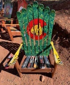 Colorado Flag Aspen Marbled Green Ski Chair