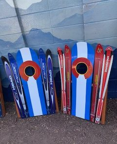 Colorado Flag Ski & Snowboard Corn Hole Set