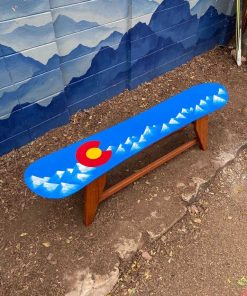 Colorado Flag Snowboard Bench