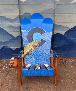 Colorado Flag Bass Hybrid Ski & Snowboard Chair
