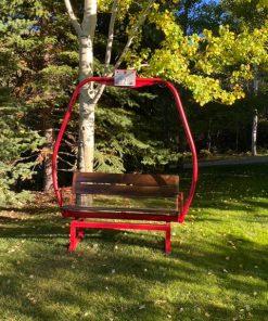 Ski Lift Bench - Red