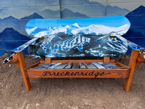 Breckenridge Mountains Ski & Snowboard Bench