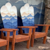 Mountain Silhouette Snowboard Chairs
