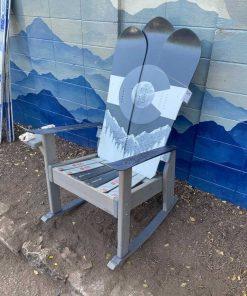 Grey Colorado Flag Ski & Snowboard Rocking Chair