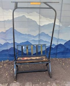 Repurposed Colorado Flag Ski Lift Bench