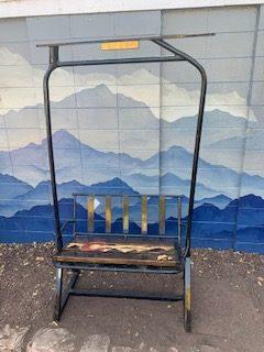 Repurposed Colorado Flag Ski Lift Bench
