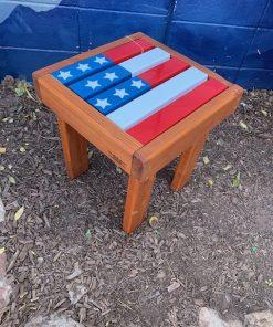 American Flag Side Table