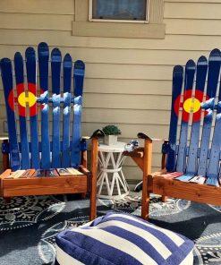 Colorado Flag Mountain Ski Chairs