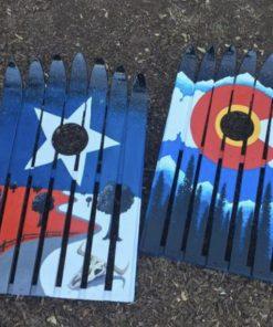 Colorado star cornhole game