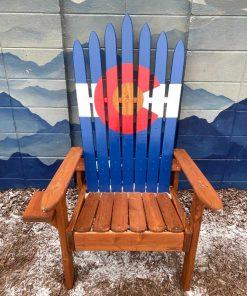 Colorado Adirondack ski chairs