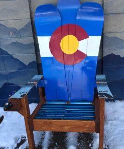 Colorado flag Adirondack snowboard chair