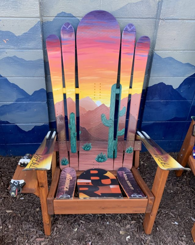 Arizona Flag Ski & Snowboard Chair