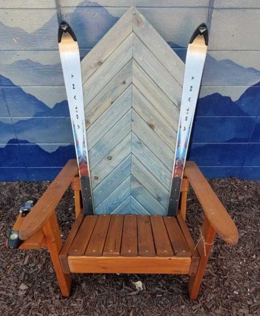 Wooden.Ski Chair