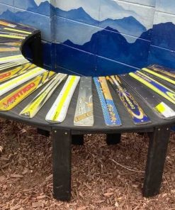Ski Semicircle Bench