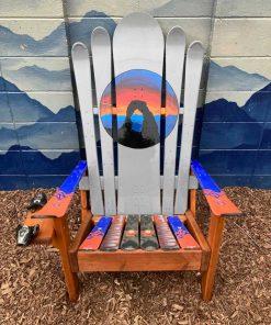 Arches Mural Ski Chair