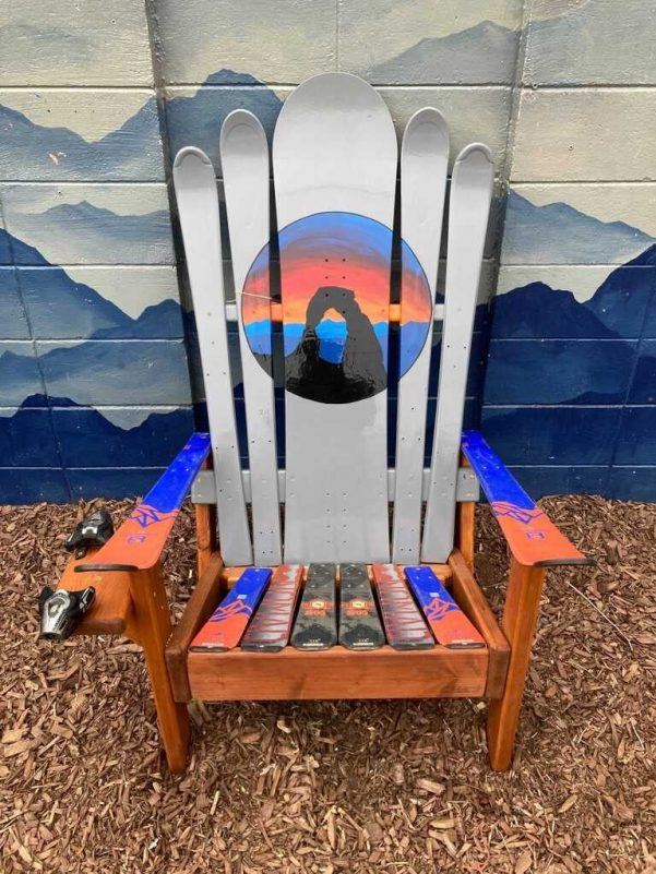 Arches Mural Ski Chair