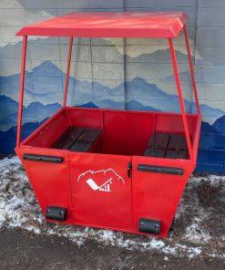 Vintage Vail Gondola Ski Lift Bench