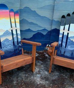 Mystic mountain day/night hybrid Adirondack snowboard chair