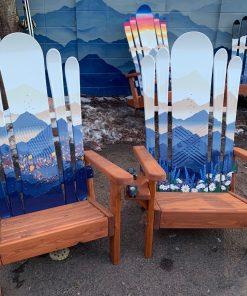 Mystic mountain field hybrid Adirondack snowboard chair