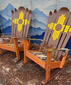 New Mexico Flag Adirondack Hybrid Ski/Snowboard Chair