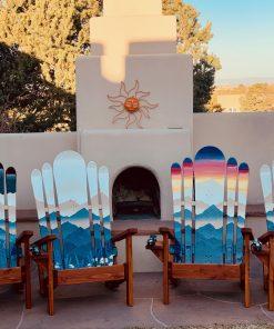 Mountain Field day/sunset/night Adirondack hybrid chair set