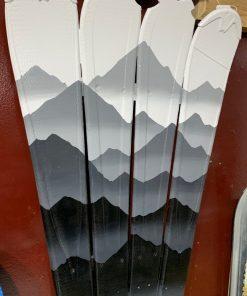 Mystic mountain monochromatic ski wall art
