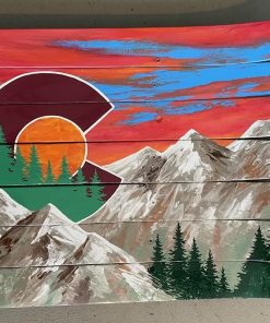 Colorado mountain ski wall art
