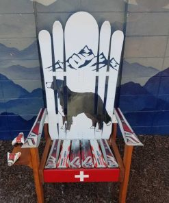 Snowy dog Adirondack hybrid ski/snowboard chair