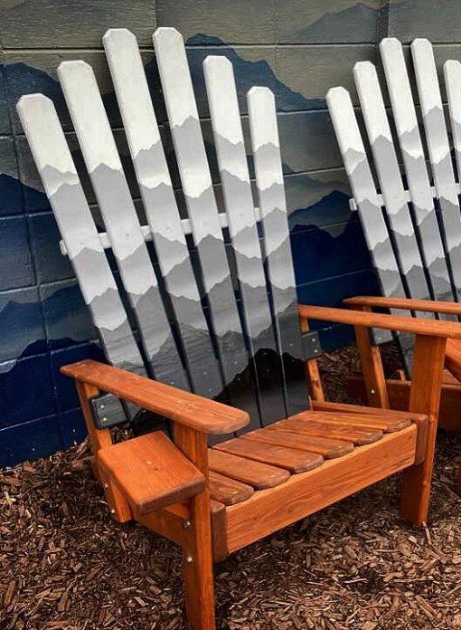 Mystic mountain monochromatic ski chair
