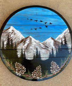 Decorative Colorado mountain wall art