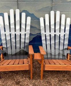 Mystic mountain monochromatic ski chairs