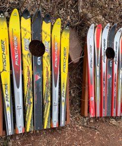 Cross country ski cornhole board
