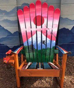 Repurposed Japanese Adirondack ski chair