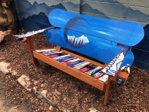 Blue Colorado Adirondack bench