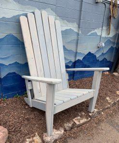 White Adirondack ski chair