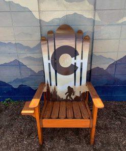 Brown Bigfoot Adirondack ski chair