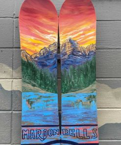 Maroon bells snowboard wall art
