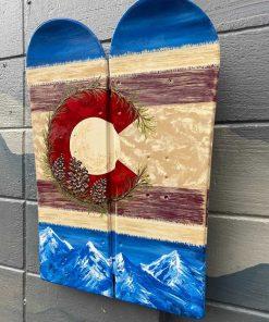 Colorado snowboard decorative wall art