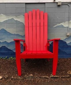 Extra large Adirondack red chair