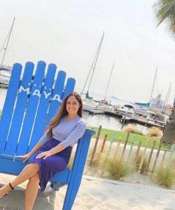 Extra large Adirondack blue chair