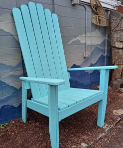 Extra large Adirondack teal chair