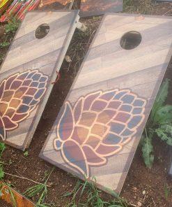 Colorado hops wooden cornhole boards
