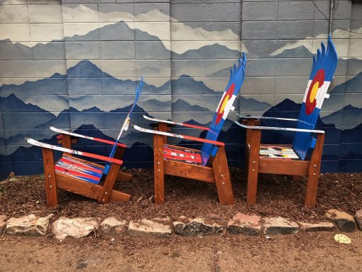 Adirondack ski chair model display